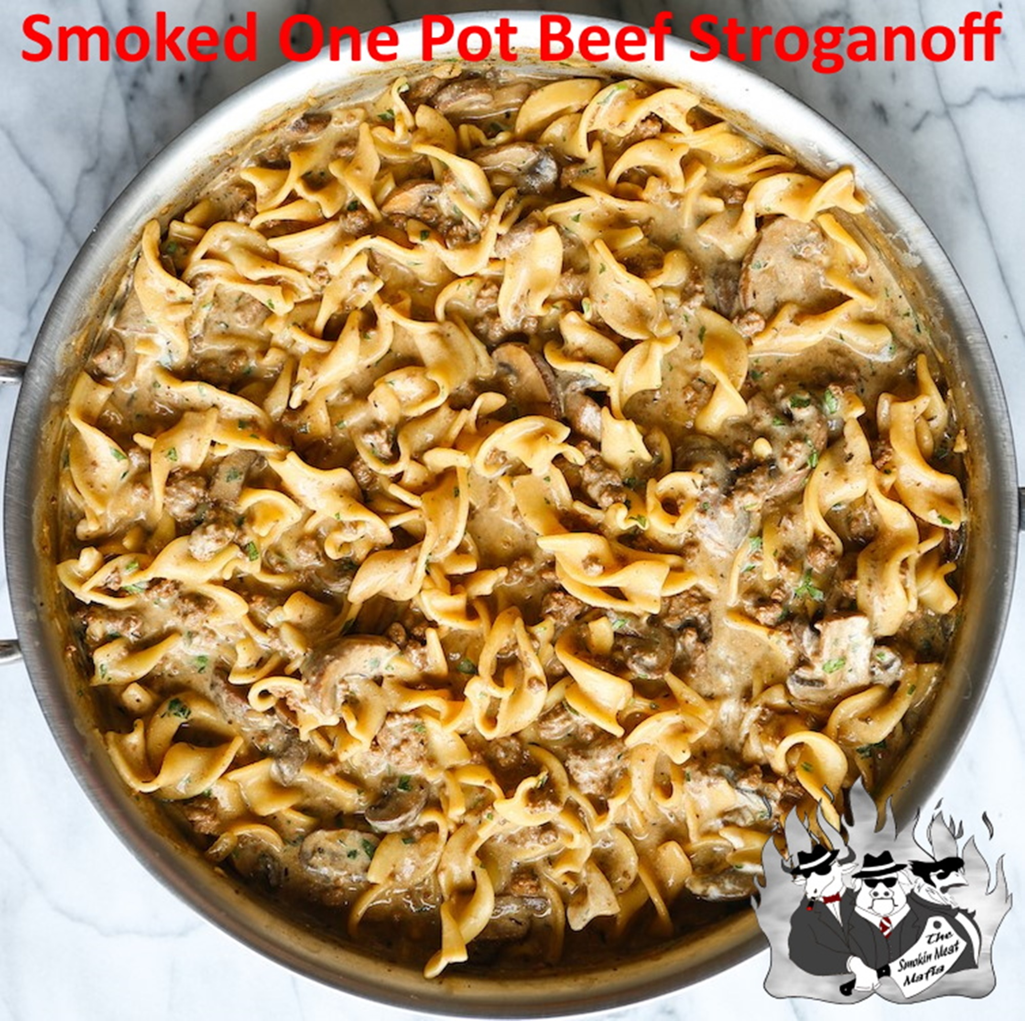 Smoked One Pot Beef Stroganoff